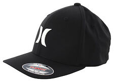 HURLEY ONE AND ONLY BLACK WHITE FLEXFIT Cap 2016 black/white Kappe