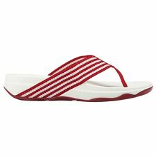 FitFlop Surfa Red White Womens Sandals