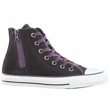 Converse Chuck Taylor All Star Side Zip Hi Brown Womens Trainers
