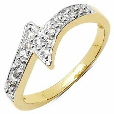 NEW ONE GRAM GOLD PLATED FINGER RING CUBIC ZIRCONIA AMERICAN DIAMOND F433