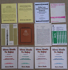 SHEET MUSIC & BOOKLETS FOR THE OBOE & OBOE WITH PIANO ETC .
