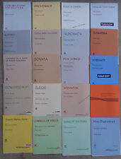 SHEET MUSIC & BOOKLETS FOR THE TUBA, EUPHONIUM & BARITONE, (some with piano).