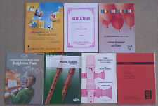 SHEET MUSIC & BOOKLETS FOR THE RECORDER, INCLUDES SOLOS, DUETS, QUARTETS ETC.