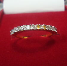 NEW ONE GRAM GOLD PLATED FINGER RING CUBIC ZIRCONIA AMERICAN DIAMOND F392