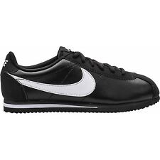 Nike Cortez Black White Leather Youths Trainers