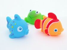 Bath Squirters Squeaky Animal Squirter Set of 3 Baby Bath Toys Fish Frog Duck