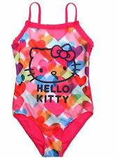 Girls HELLO KITTY Multi Hearts Holiday Swimming Costume/Bather  Ages  4. &  6.