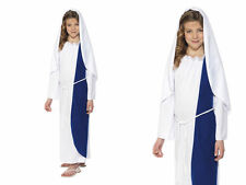 Girls Virgin Mary Outfit Nativity Play Religious School Kids Fancy Dress Outfit