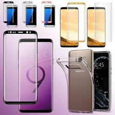 TEMPERED GLASS FULL Coverage Screen Protector for Samsung Galaxy S9 S8 S7 Note 8
