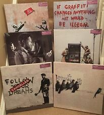"6 Different New Banksy Canvas Prints 15""x15"" Painter, Immigrants, Ball Games"