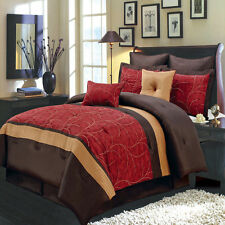 8pc Atlantis Bed in A Bag Elegant Multi Colored Decorative Pillows Included