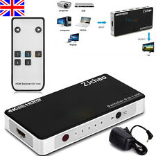 3/5 Port 1080P 3D HDMI Switch Switcher Splitter Hub + IR Remote for HDTV DVD PS3