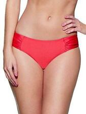 Lepel Holiday Sparkle Low Rise Bikini Bottoms Coral Red8-18 Womens