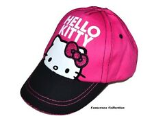 Girls HELLO KITTY Pink & Black Summer Holiday Cap/Sun Hat    3/6 yrs   11/13 yrs