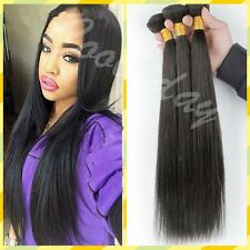 Brazilian Hair Extension Peruvian Human Virgin Remy Premium Straight 100g Weave