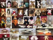 Various Makes of Cuddly Soft Toy Dog Bear & Safari Farm Wild Animals