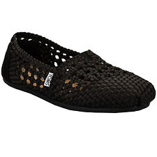 Womens Toms Woven Classic Espadrille Pumps In Black From Get The Label