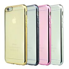 Thin Chrome Plated TPU Gel Case Cover For iPhone 5S,6s,6S+,7,Galaxy S6,S7 Edge