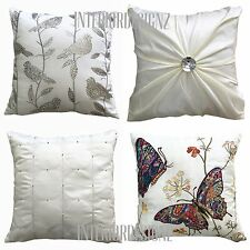 NEW Cream Collection Various Designs Luxury Quality Cushion Covers