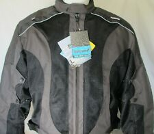 New Black Gray Armored MESH Waterproof liner Motorcycle Biker Jacket  SIZES