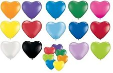 "Lot de 6 Qualatex 6"" Cœur En forme de Ballons De Fêtes Latex (1 de 2 Annonces)"