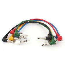 """1m 6.3mm (1/4"""") Auxiliary Jack Lead with Angled Connectors (Various Colours)"""