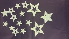 Glow In The Dark Stars Plastic Shapes for Ceilings & Walls Bedroom Strong Sticky