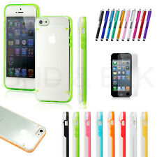 For iphone 5s 5 case Ultra Thin Transparent Crystal Clear Hard TPU Slim Cover