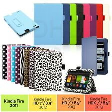portafoglio in similpelle Custodia Cover Stand Per Amazon Kindle Fire HD 17.8cm