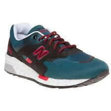 New Mens New Balance Green 1600 Textile Trainers Retro Lace Up