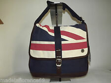 BEN SHERMAN BORSA A TRACOLLA UNION PRINT MAP BAG BANDIERA INGLESE