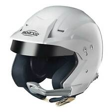 Sparco WTXJ-5I Snell 2010 FIA Approved Rally Helmet With Intercom In White