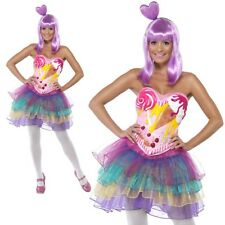 Katy Perry Costume Ladies Candy Queen Celebrity Fancy Dress XS-M