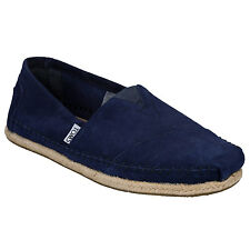 Mens Toms Suede Rope Classic Espadrille Pumps In Navy From Get The Label
