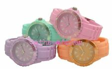 Ladies Silicon Buckle Strap Summer Pastel Colours Analogue Watch 4 colour choice