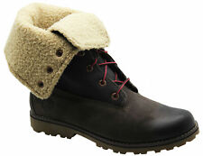 33fb420cd995f Timberland Authentic 6 Inch Shearling Juniors Boots Kids Roll Down 6298R WH