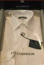camicia STIRO FACILE classica collo all'italiana puro cotone uomo bianca cod. NO