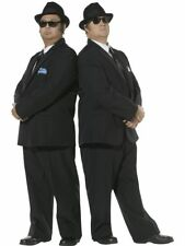 Blues Brothers Costume Mens Licensed Fancy Dress Costume Sizes M,L
