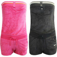 Nike Solid Terry Cover Up Bandeau Womens Jumpsuit Playsuit 417334 EE4 EE24