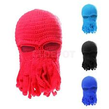 Unisex Funny Cool Tentacle Octopus Knit Beanie Hats Wind Ski Mask Cosplay Caps