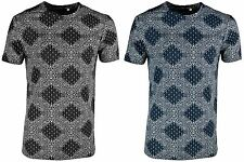 Brave Soul Men's 'Maxwell' Paisley Skull Design Crew Neck Fashion T-Shirt Top