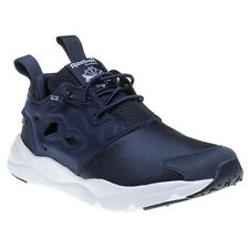 New Boys Reebok Blue Furylite Nylon Trainers Running Style Lace Up