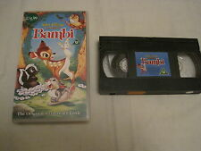 WALT DISNEY CLASSICS - Bambi -  VHS Tape - U - The Original Animated Classic