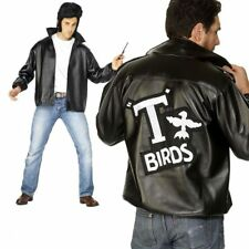 T-Birds Jacket Mens Grease Fancy Dress Licensed Costume M-XL
