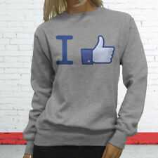 Thumbs Likes Followers Subscribe Views I Like Facebook Womens Gray Sweatshirt