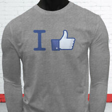 Thumbs Likes Followers Subscribe I Like Facebook Mens Gray Long Sleeve T-Shirt