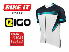 EIGO DIAMOND MENS CYCLING JERSEY SHORT SLEEVE SUMMER BREATHABLE MTB BIKE BLUE