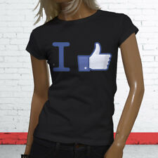 Thumbs Likes Followers Subscribe Views I Like Facebook Womens Black T-Shirt