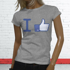 Thumbs Likes Followers Subscribe Views I Like Facebook Womens Gray T-Shirt