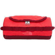 North Face Base Camp Travel Canister Unisex Bag Toiletry - Melon Red Calypso